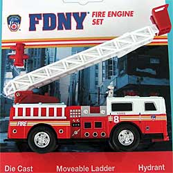 Modellauto - Fire Department New York FDNY - 13cm lange - Leiterwagen