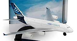 Airbus A380 Spielzeugmodell